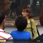 CAroline DElabie interviewée au Louvre - Libération