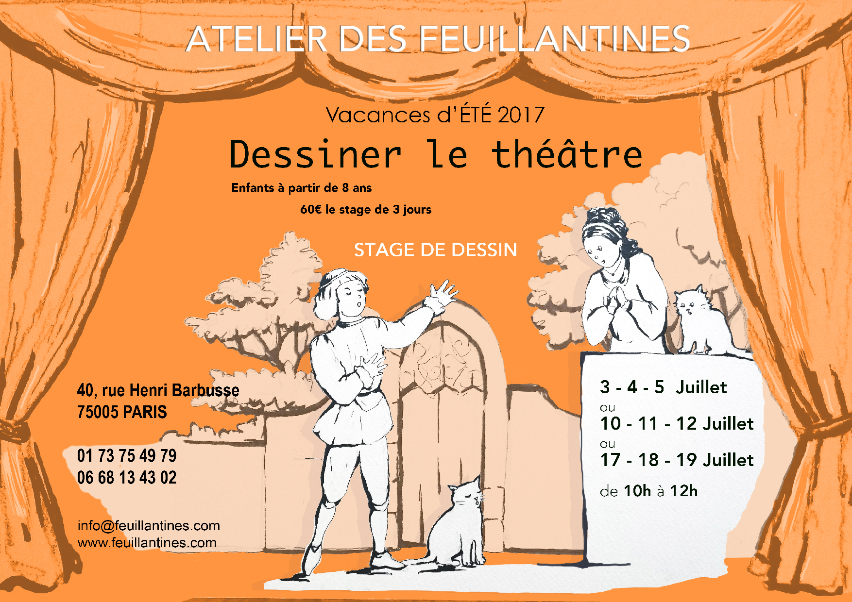 stage Dessiner le theatre