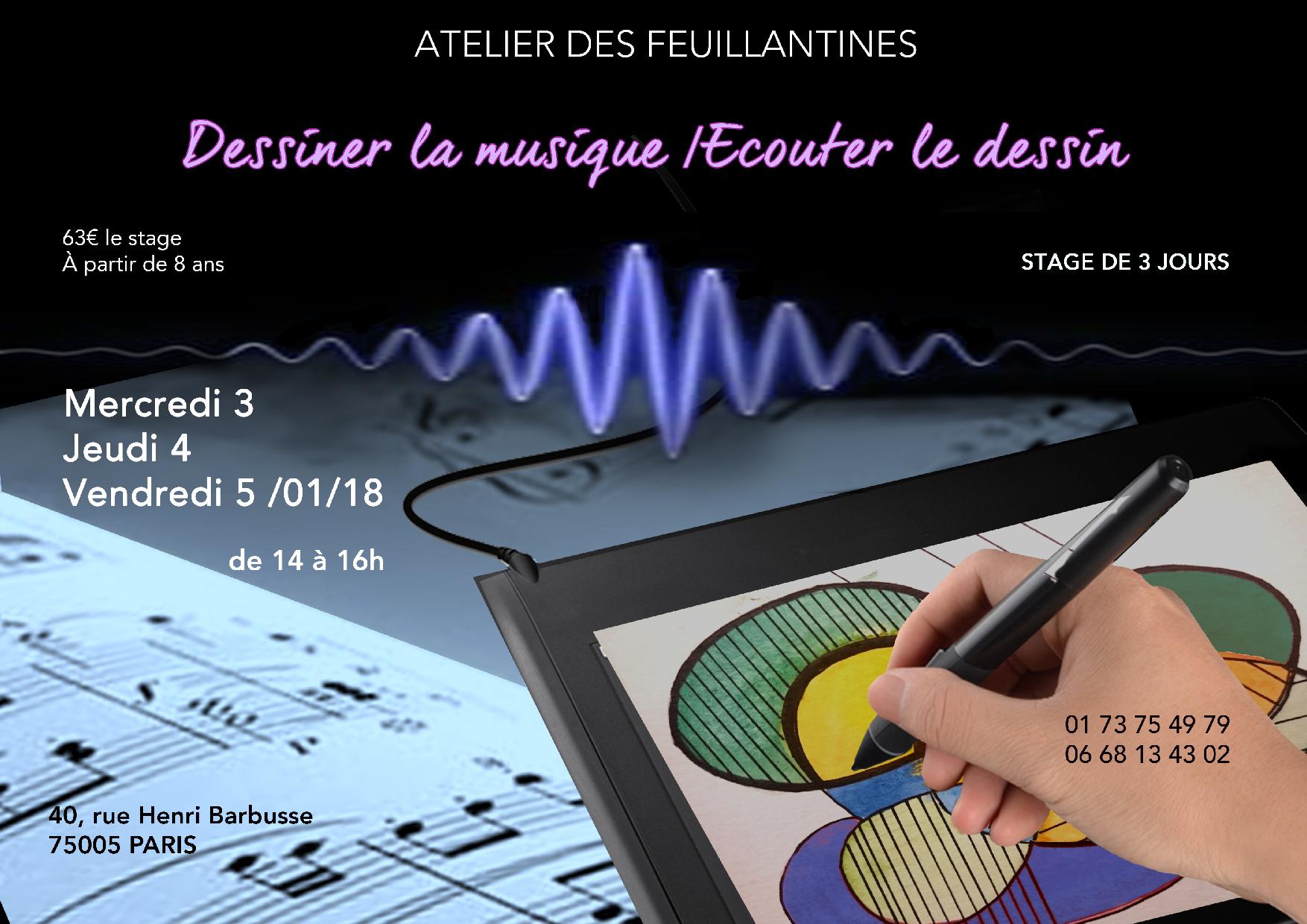 stage - dessiner la musique - écouter le dessin