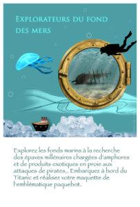 Atelier à la carte - Explorateurs du fond des mers