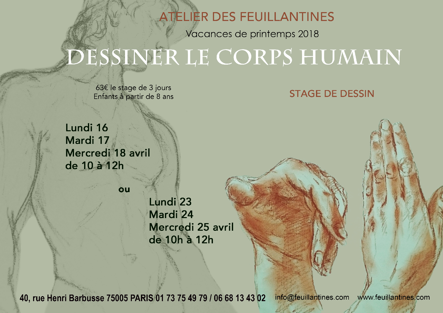 stage _ dessiner le corps humain