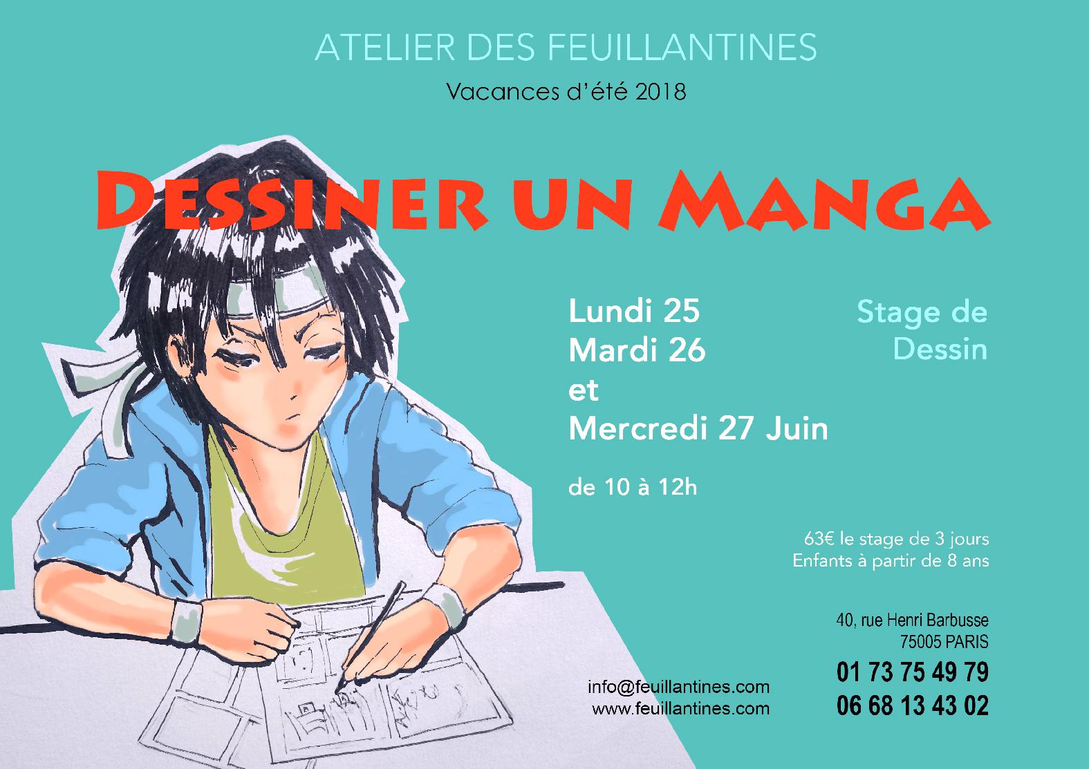 stage-dessiner un manga