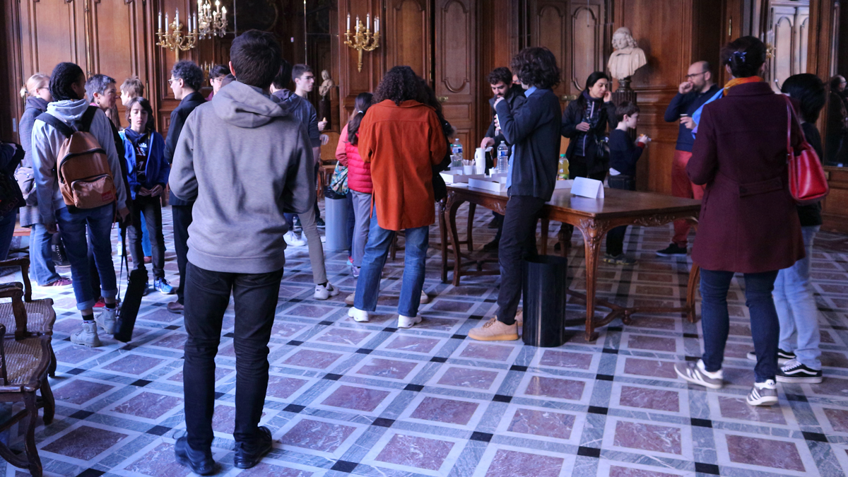 Accueil des élèves de conservatoires à la Bibliothèque Nationale de France, rue de Richelieu