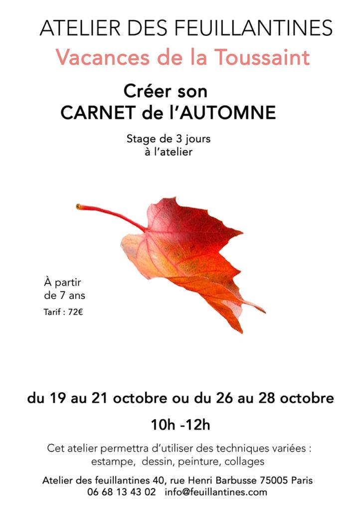 stage carnet de l'automne