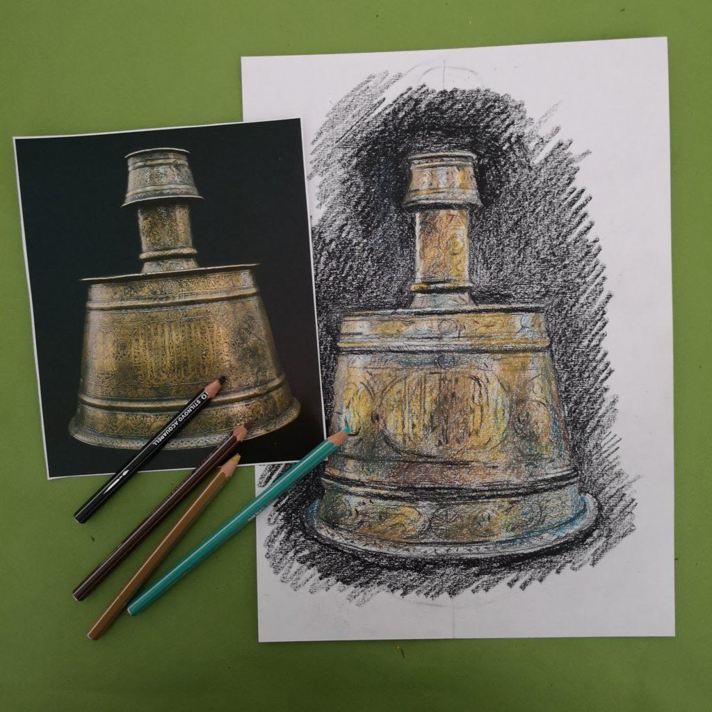une œuvre au bout du crayon atelier virtuel institut du monde arabe et atelier des feuillantines